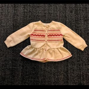 Gymboree cardigan sweater size 6-12